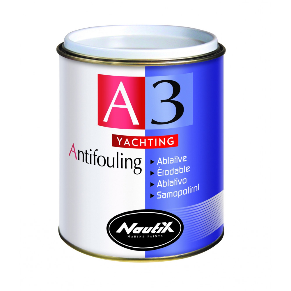 NAUTIX A3 Yachting, 0,75L; Selbstpolierendes Antifouling Schwarz