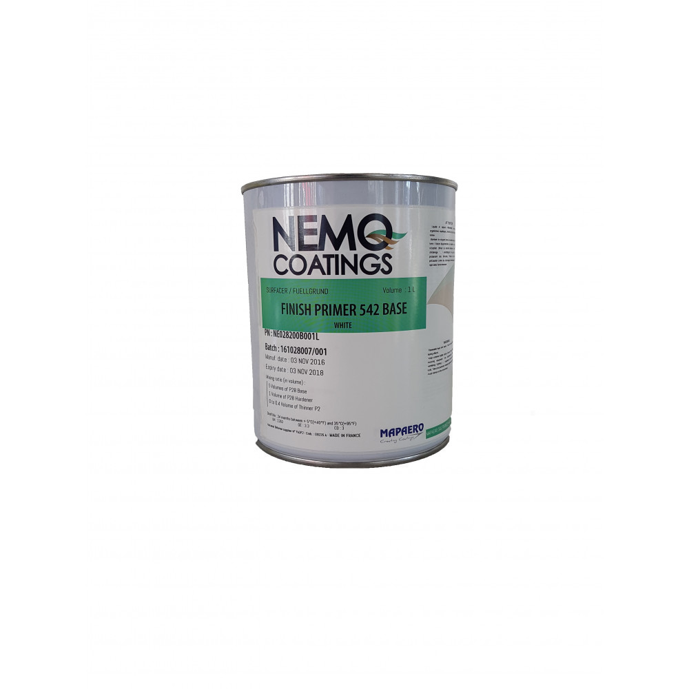 Nemo Coatings FINISH PRIMER 542, weiß, 5L Basis