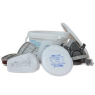 3M Doppelfiltermaske 6000, Größe L,    Set in Box, incl. verschiedener Filter