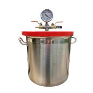 Entgasungsbehälter / Exsikkator / Vakuumkammer, ca. 12 Liter Volumen