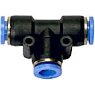 Schnellverbinder, T-Form, für Schlauch / Rohre 10mm Aussendurchmesser