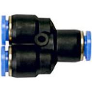 Schnellverbinder, Y-Form, für Schlauch / Rohre 10mm Aussendurchmesser