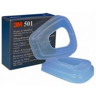 3M 501, Filterdeckel für Feinstaubvorfilter, für 3M Masken Serie 6000 und 7000