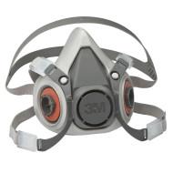 3M Doppelfiltermaske 6100, Gummihalbmaske Größe S