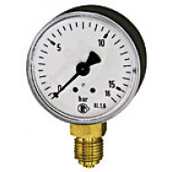 Manometer, Kunststoff, Vakuum -1200-0,0 mbar, D=63mm, Anschluss: G 1/4 unten