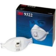 3M 9322 Feinstaubmaske, Schutzstufe FFP2 S, bis zum 10 fachen MAK-Wert