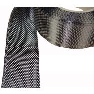 Kohlefaserband ca. 250g/m², 50 mm breit, Leinwandbindung