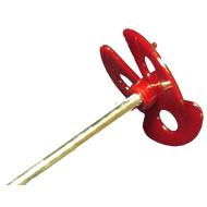 Mischpropeller, Kunststoff, Durchmesser ca. 60 mm, Stiel ca. 300 mm