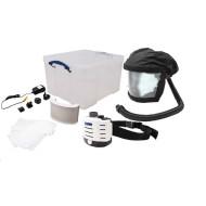Akku Gebläse-Atemschutzgerät mit Aufklappvisier: CENTURION Concept Air SET