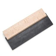 Gummispachtel 180 mm, Holzrücken, schwarzes Gummiblatt