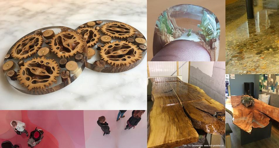 Kunst mit epoxidharz tische ringe mehr mit gie harz for Boden epoxidharz