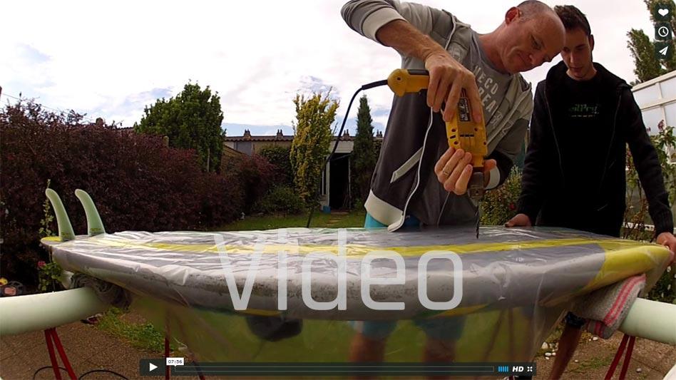 Surfboard reparieren mit Epoxy-Schaum