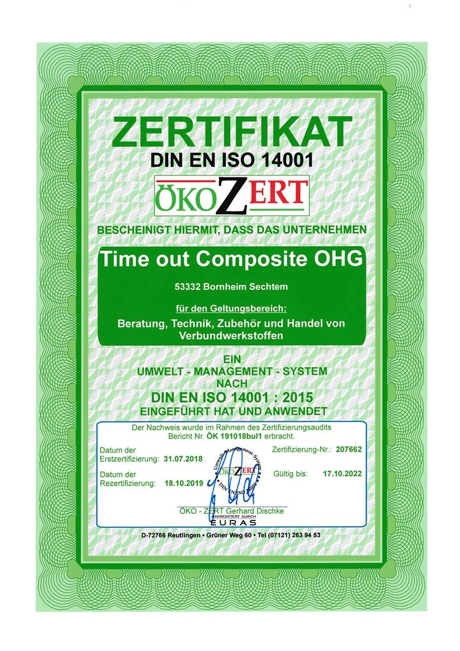 Ökozert Zertifikat DIN EN ISO 14001
