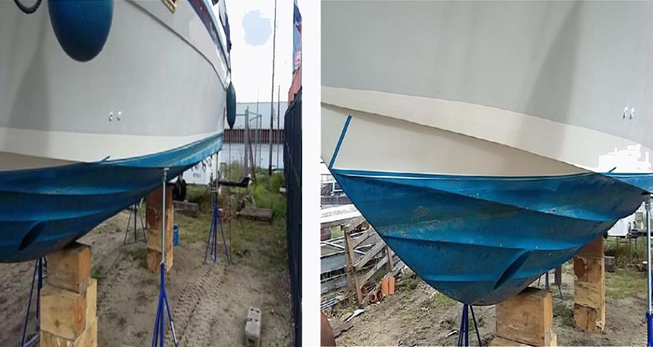Osmosebehandlung Motorboot Bild 1