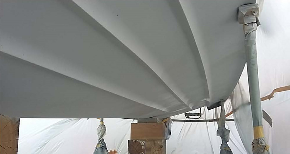 3 Schichten Osmoseschutz Nautix HPE aufbringen